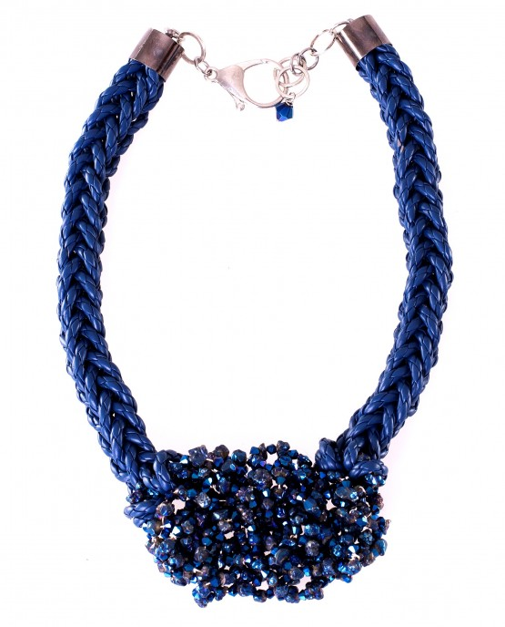 Blue Citrine Nugget Statement Necklace Caterina Wills Jewellery