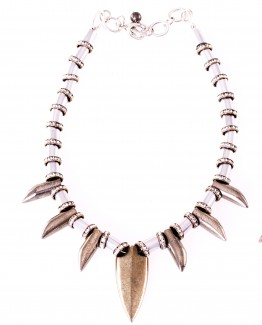 Pyrite Arrowhead Short Necklace Caterina Wills Jewellery