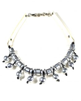 Aluminium Ball Necklace Caterina Wills Jewellery