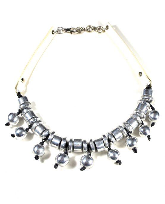 Aluminium Ball Necklace Caterina Wills Jewellery