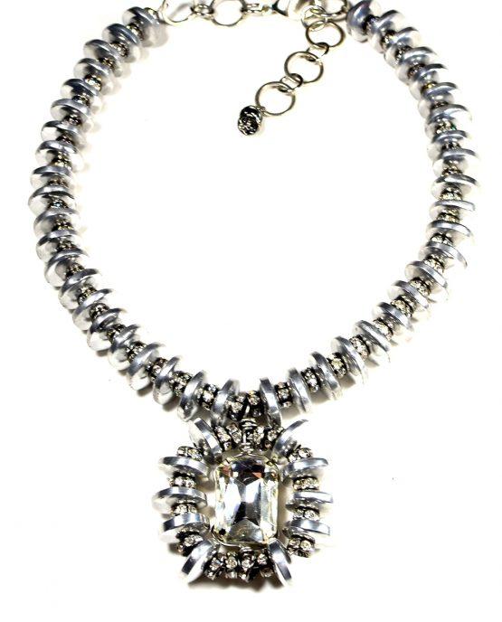 Aluminium Rhinestone Pendant Caterina Wills Jewellery