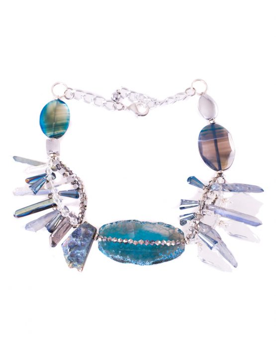 Blue Agate Gemstone Necklace Caterina Wills Jewellery