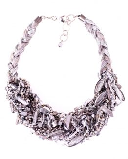 Braided Statement Silver Ribbon Necklace Caterina Wills Jewellery