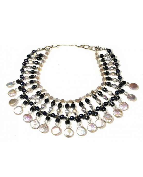 Freshwater Pearl Statement Collar Necklace Caterina Wills Jewellery