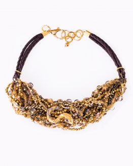 Gold Snake Statement Necklace Caterina Wills Jewellery