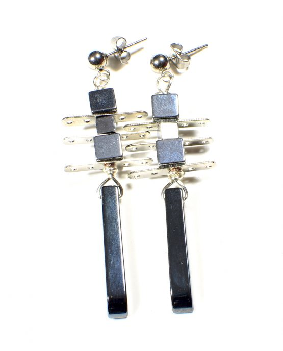 Hematite Point Earrings