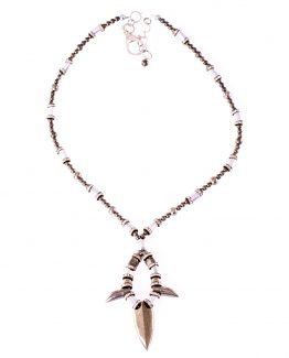 Long Statement Pyrite Arrowhead Necklace Caterina Wills Jewellery