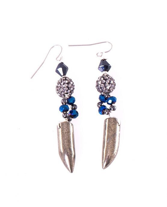 Pyrite Talon Earrings