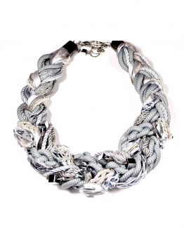 Silver Grey Cord Necklace Caterina Wills Jewellery