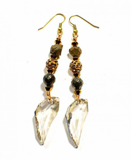 Swarovski Pegasus Gold Earrings
