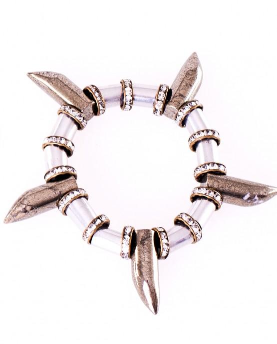 Aluminium and Pyrite Bracelet