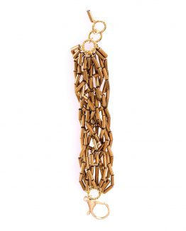 Gold Hematite Tube Bracelet Caterina Wills Jewellery