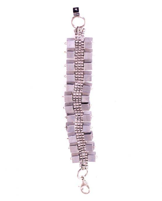 Hematite Cube Bracelet Caterina Wills Jewellery