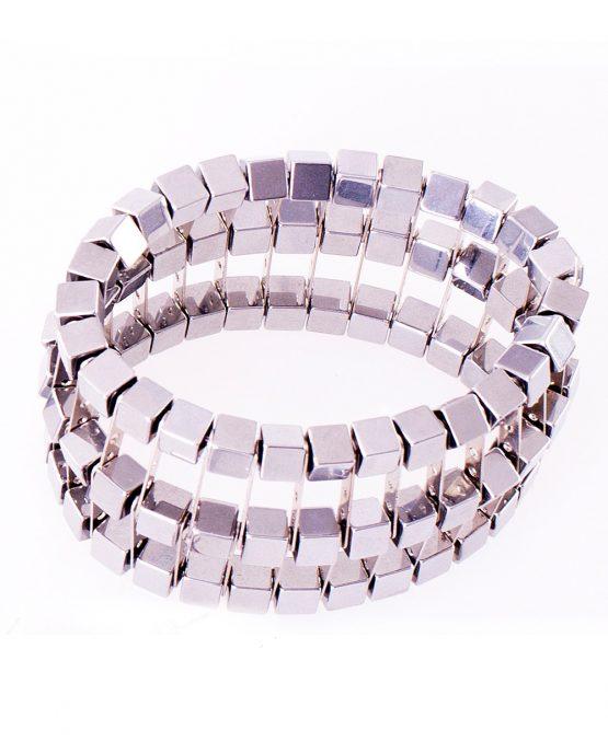 Hematite Cube Cage Bracelet Caterina Wills Jewellery