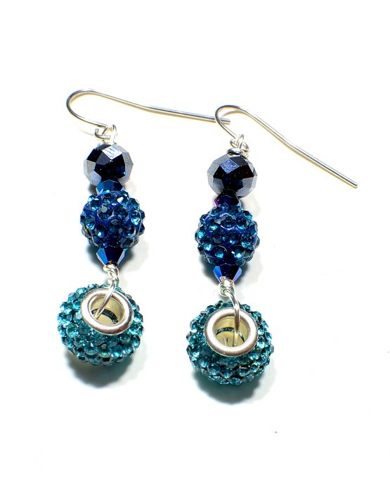 Blue Charm Earrings Caterina Wills Jewellery