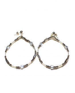 Crystal And Glass Hoop Earrings Caterina Wills Jewellery