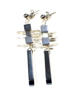 Hematite Point Earrings Caterina Wills Jewellery