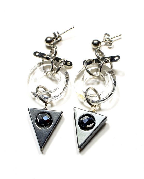 Hematite Triangle Earrings Caterina Wills Jewellery