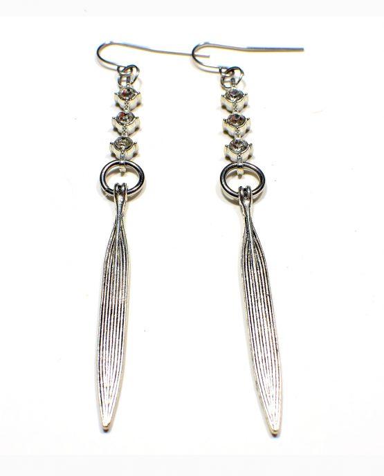 Leaf Drop Earrings Caterina Wills Jewellery