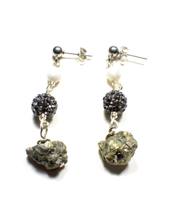 Pyrite Nugget Drop Earring Caterina Wills Jewellery