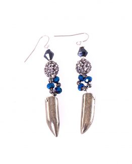 Pyrite Talon Earrings Caterina Wills Jewellery