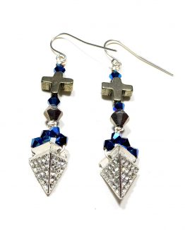 Rhinestone Pyramid Earrings Caterina Wills Jewellery