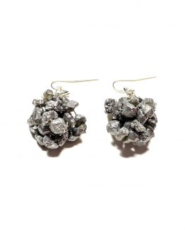 Silver Crystal Nugget Earrings Caterina Wills Jewellery