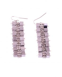 Silver Hematite Cube Earrings Caterina Wills Jewellery