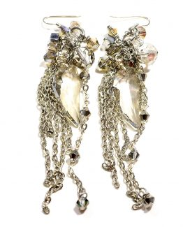 Swarovski Cluster Chain Earrings Caterina Wills Jewellery