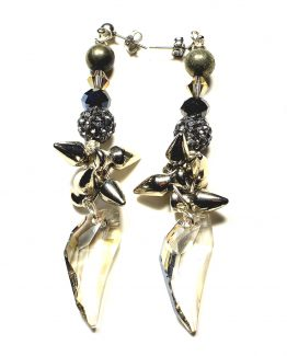 Swarovski Pegasus And Spike Earrings Caterina Wills Jewellery